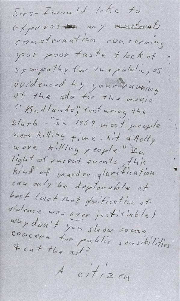 17_a_-_San_Francisco_Chronicle_Badlands_card_May_8_1974